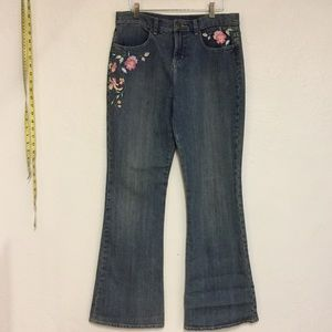 Cleo Embroidered Jeans, 6